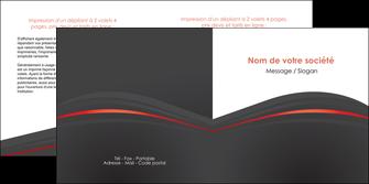 cree depliant 2 volets  4 pages  web design gris fond gris gris metallise MLGI73978
