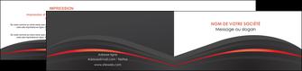 exemple depliant 2 volets  4 pages  web design gris fond gris gris metallise MLGI73984
