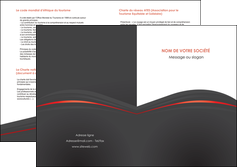faire modele a imprimer depliant 2 volets  4 pages  web design gris fond gris gris metallise MLGI73988