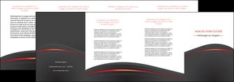 exemple depliant 4 volets  8 pages  web design gris fond gris gris metallise MLIP73990