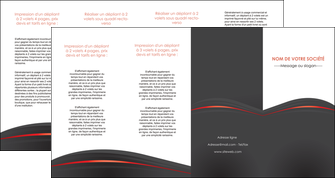 realiser depliant 4 volets  8 pages  web design gris fond gris gris metallise MLIP73994