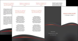 realiser depliant 4 volets  8 pages  web design gris fond gris gris metallise MLGI73994