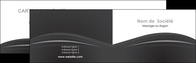 Creer Modele En Ligne Carte De Visite Restaurant Menu Noir Blanc MLGI74008