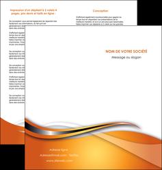 personnaliser maquette depliant 2 volets  4 pages  web design texture contexture structure MLGI74184