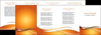 creer modele en ligne depliant 4 volets  8 pages  web design texture contexture structure MLIG74198