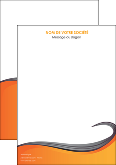 creation graphique en ligne affiche orange fond orange couleur MIF74436