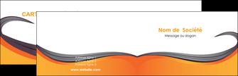 personnaliser modele de carte de visite orange fond orange couleur MIF74442