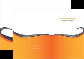 creer modele en ligne pochette a rabat orange fond orange couleur MIF74446