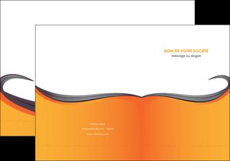 faire modele a imprimer pochette a rabat orange fond orange couleur MIF74448