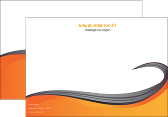 creation graphique en ligne affiche orange fond orange couleur MIF74456