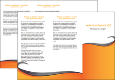 creation graphique en ligne depliant 3 volets  6 pages  orange fond orange couleur MIF74460
