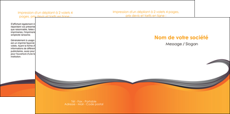 imprimerie depliant 2 volets  4 pages  orange fond orange couleur MIF74464