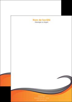 modele en ligne tete de lettre orange fond orange couleur MIF74466
