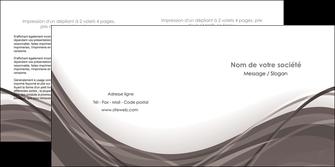modele depliant 2 volets  4 pages  web design gris fond gris abstrait MLGI74582