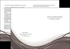 personnaliser modele de depliant 2 volets  4 pages  web design gris fond gris abstrait MLGI74592