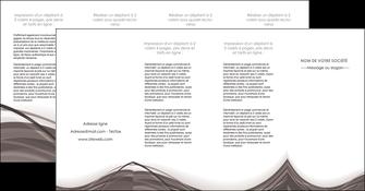 exemple depliant 4 volets  8 pages  web design gris fond gris abstrait MLGI74600
