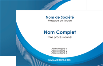 maquette en ligne a personnaliser carte de visite web design bleu fond bleu couleurs froides MIF74604