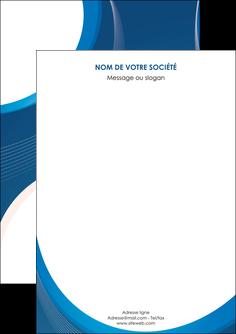 exemple flyers web design bleu fond bleu couleurs froides MIF74606