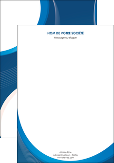 faire modele a imprimer affiche web design bleu fond bleu couleurs froides MIF74610