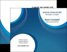 personnaliser modele de carte de visite web design bleu fond bleu couleurs froides MIF74614