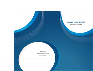 personnaliser modele de pochette a rabat web design bleu fond bleu couleurs froides MIF74618