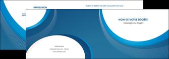 realiser depliant 2 volets  4 pages  web design bleu fond bleu couleurs froides MIF74620