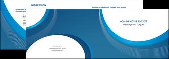 cree depliant 2 volets  4 pages  web design bleu fond bleu couleurs froides MIF74622