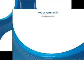 faire modele a imprimer affiche web design bleu fond bleu couleurs froides MIF74624