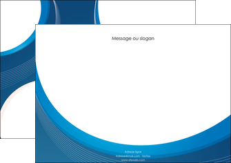 creer modele en ligne affiche web design bleu fond bleu couleurs froides MIF74626