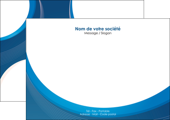 imprimer flyers web design bleu fond bleu couleurs froides MIF74628