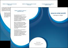 modele en ligne depliant 3 volets  6 pages  web design bleu fond bleu couleurs froides MIF74630