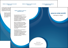 modele en ligne depliant 3 volets  6 pages  web design bleu fond bleu couleurs froides MLIG74630