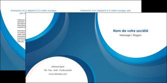 modele depliant 2 volets  4 pages  web design bleu fond bleu couleurs froides MIF74634
