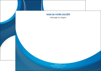 imprimer flyers web design bleu fond bleu couleurs froides MIF74638