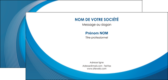 creation graphique en ligne carte de correspondance web design bleu fond bleu couleurs froides MIF74642