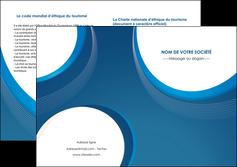 maquette en ligne a personnaliser depliant 2 volets  4 pages  web design bleu fond bleu couleurs froides MLIG74644
