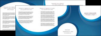 modele en ligne depliant 4 volets  8 pages  web design bleu fond bleu couleurs froides MIF74648
