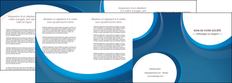modele en ligne depliant 4 volets  8 pages  web design bleu fond bleu couleurs froides MLIG74648