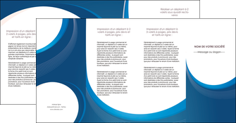 modele depliant 4 volets  8 pages  web design bleu fond bleu couleurs froides MIF74652