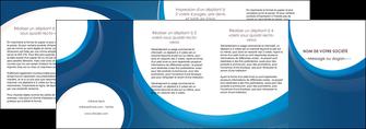 imprimerie depliant 4 volets  8 pages  web design bleu fond bleu couleurs froides MIF74654