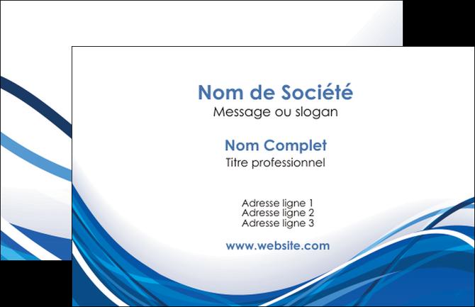 Creation Graphique En Ligne Carte De Visite Web Design Bleu Fond Couleurs Froides MLGI74656