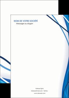 personnaliser modele de flyers web design bleu fond bleu couleurs froides MLGI74658