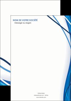 maquette en ligne a personnaliser affiche web design bleu fond bleu couleurs froides MIF74664
