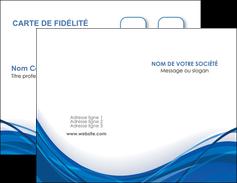personnaliser maquette carte de visite web design bleu fond bleu couleurs froides MLGI74666