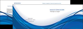 impression depliant 2 volets  4 pages  web design bleu fond bleu couleurs froides MIF74672
