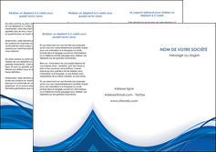 exemple depliant 3 volets  6 pages  web design bleu fond bleu couleurs froides MLGI74682