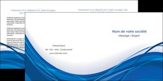 faire depliant 2 volets  4 pages  web design bleu fond bleu couleurs froides MLGI74686