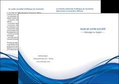 imprimerie depliant 2 volets  4 pages  web design bleu fond bleu couleurs froides MLGI74696
