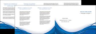 realiser depliant 4 volets  8 pages  web design bleu fond bleu couleurs froides MLGI74700