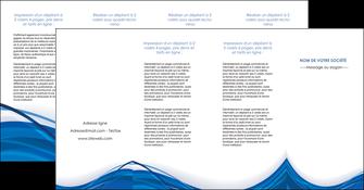 creation graphique en ligne depliant 4 volets  8 pages  web design bleu fond bleu couleurs froides MLGI74704